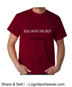 Roll with the best and forget the rest! Men's T-shirt Design Zoom