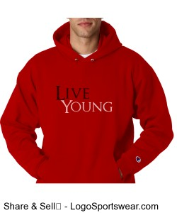 Live Young Basic Hoodie Design Zoom